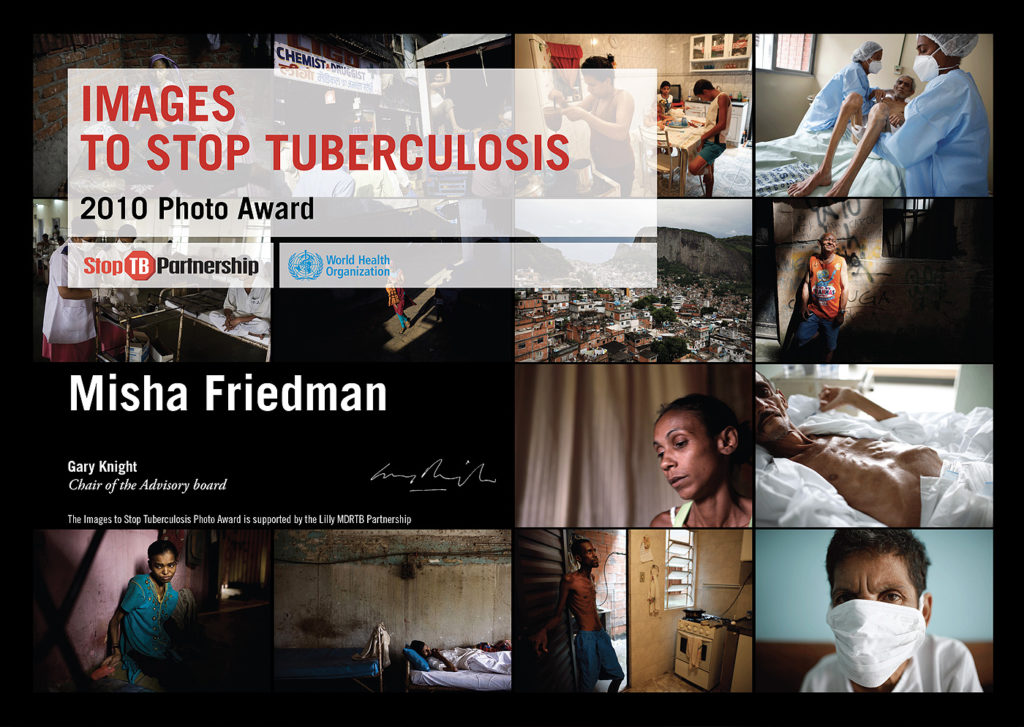 Photo Award – images to stop tuberculosis, certificate