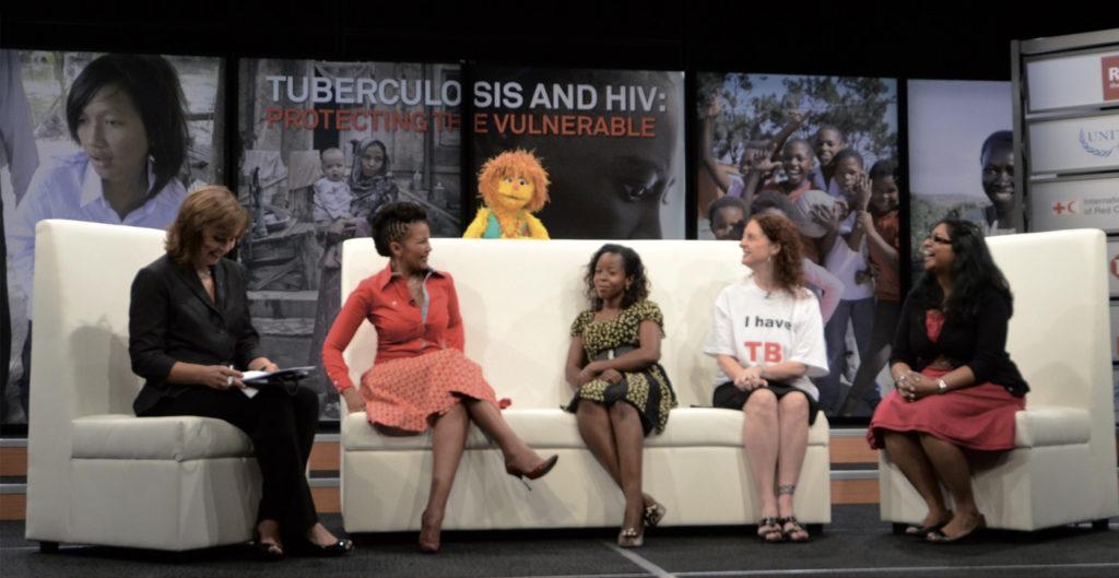 Talk show Tuberculosis and HIV: Protecting the Vulnerable – setting dello studio