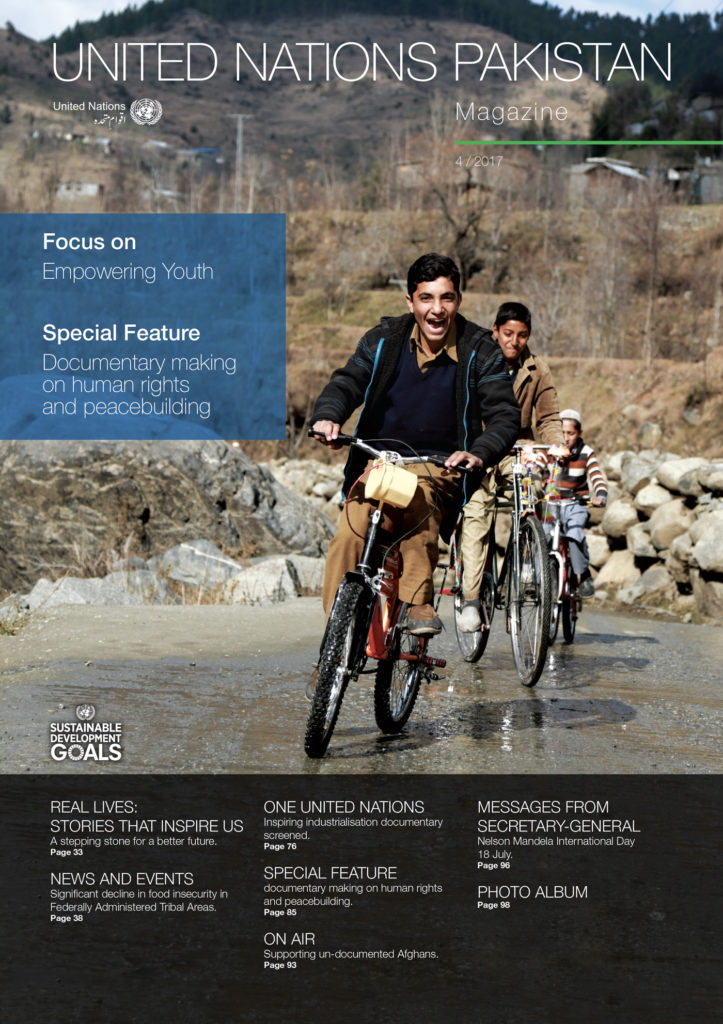 United Nations Pakistan Magazine, cover