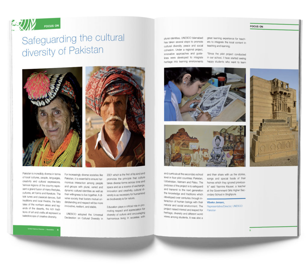United Nations Pakistan Magazine, internal pages