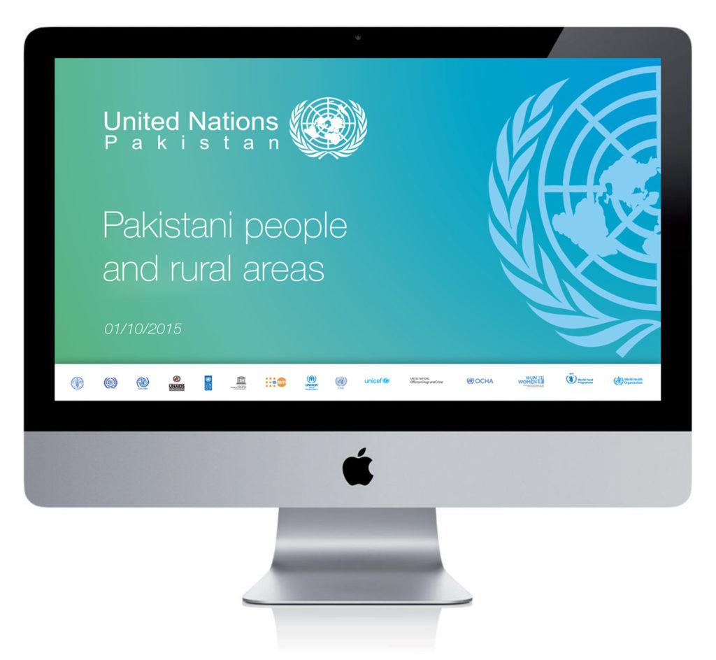 Visual identity immagine coordinata Nazioni Unite United NAtions Pakistan