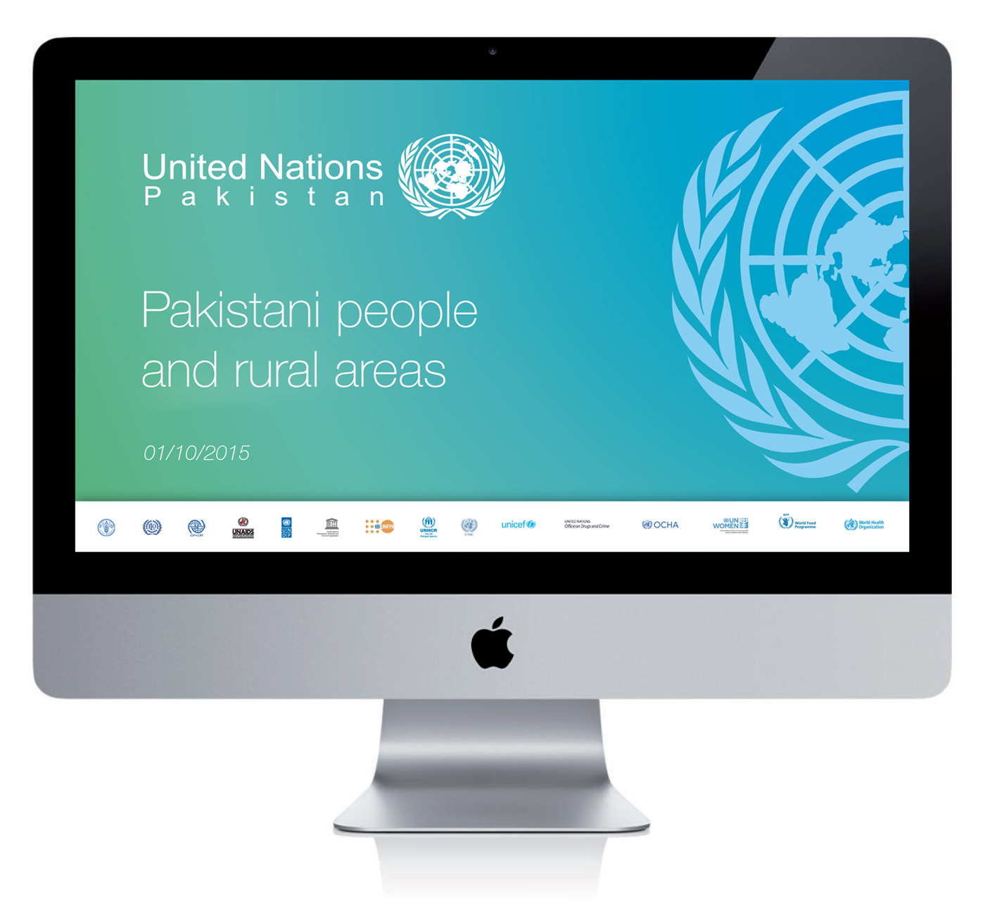 Visual identity immagine coordinata Nazioni Unite United NAtions Pakistan