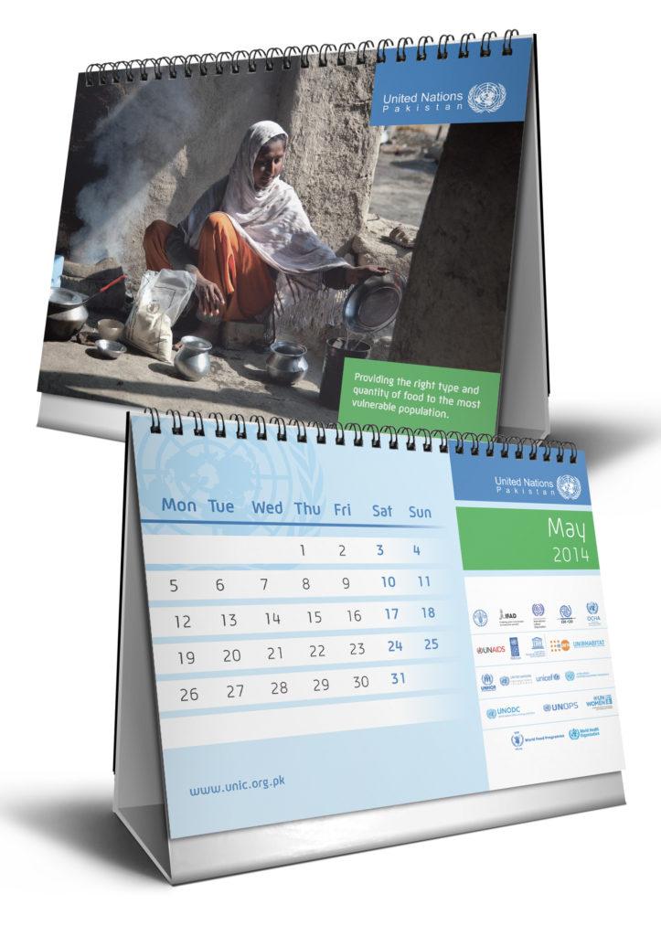 Visual identity per Nazioni Unite Pakistan – calendario