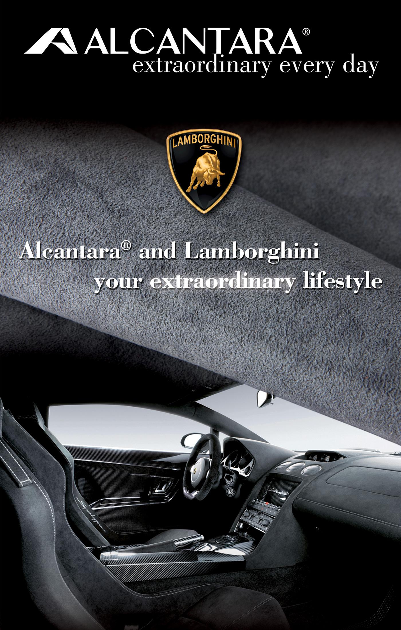 Campagna lancio Alcantara a Shanghai feauring Lamborghini