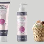 Visual identity, labelling e packaging per linea prodotti per l'igiene delle neo mamme Azeta Bio