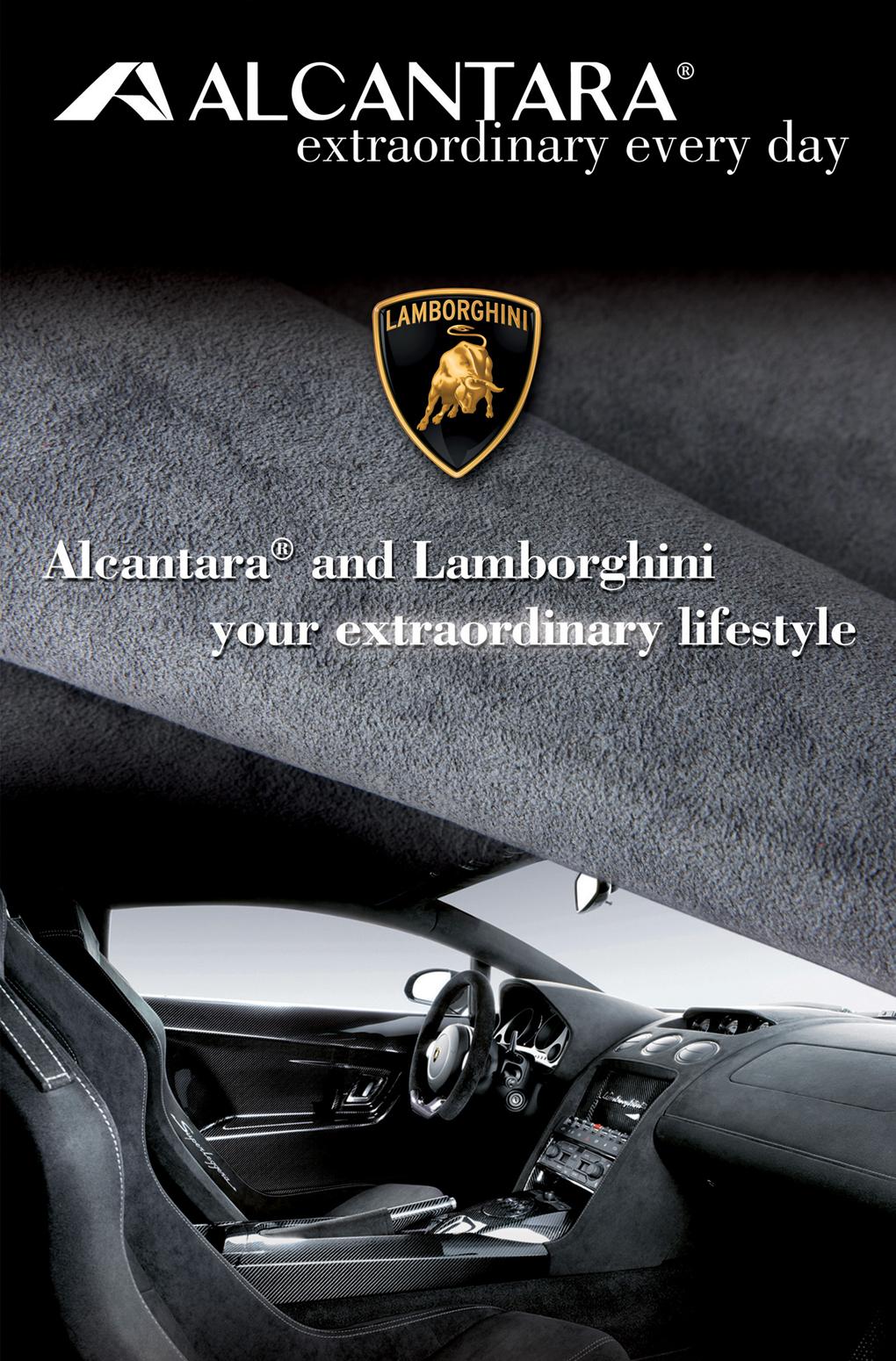 Campagna lancio Alcantara a Shanghai feauring Lamborghini - Graphic Design Mirko Neri