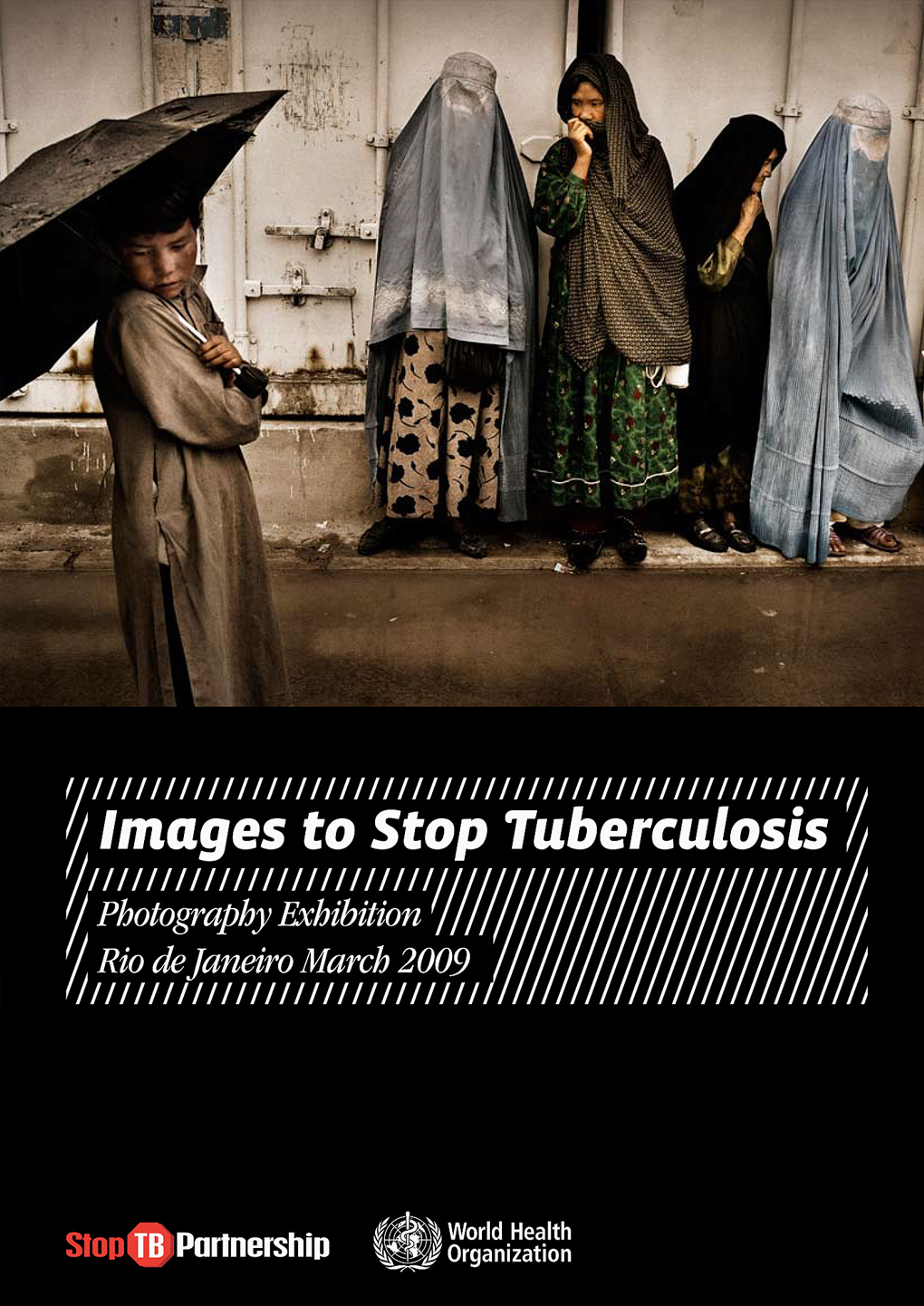 Catalogo per mostra fotografica Images to stop tuberculosis - Graphic Design Mirko Neri