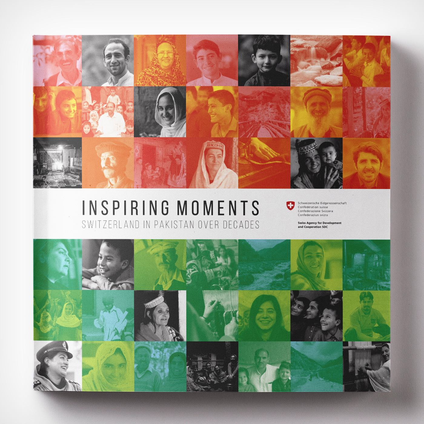 Inspiring Moments - Switzerland in Pakistan over decades - Graphic Design Mirko Neri