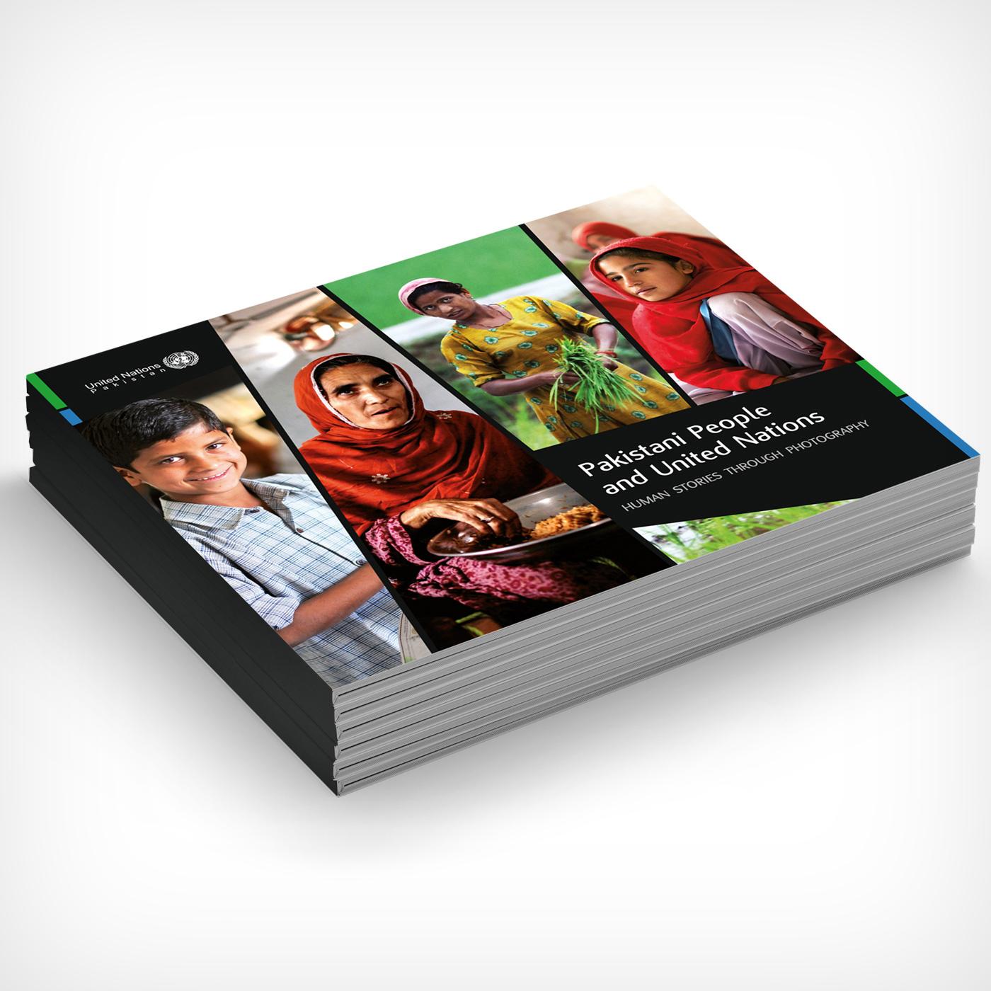 Catalogo mostra Pakistani people and United Nations - Graphic Design Mirko Neri