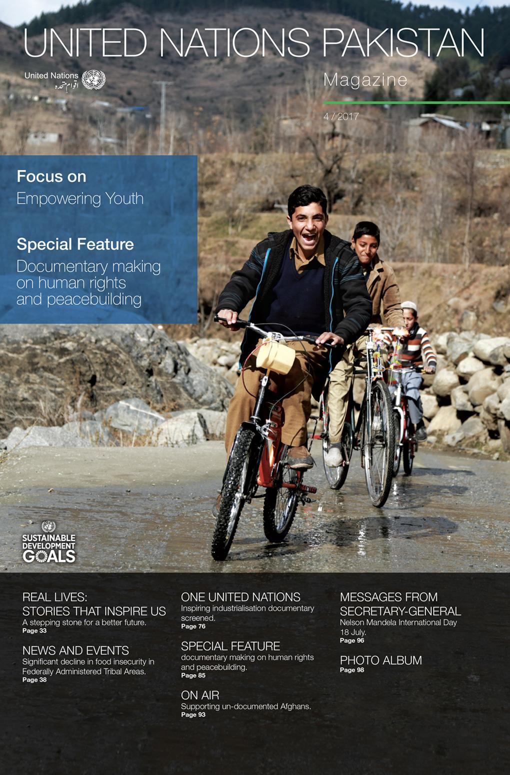 Magazine United Nations Pakistan - Graphic Design Mirko Neri