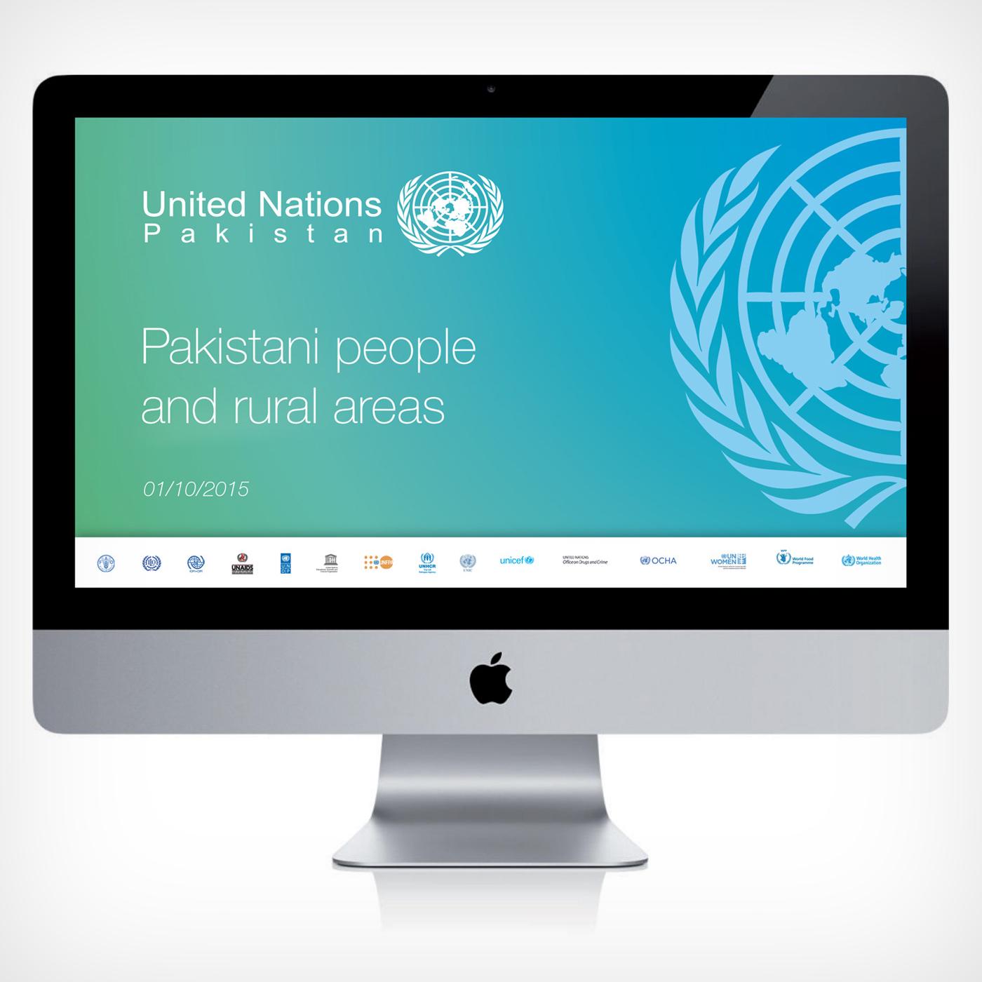 Visual identity per Nazioni Unite Pakistan - Graphic Design Mirko Neri